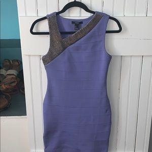 Gold-Studded Purple Bodycon Dress